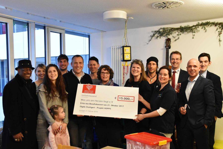 Scheckübergabe Spendenkonzert 2017